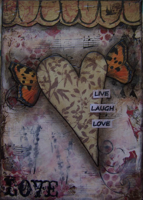 shabby heart painting1